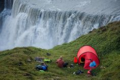Camping above a waterfall by www.AlastairHumphreys.com, via Flickr