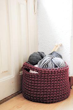 Siuke: cesta crochet para salvar seu trabalho