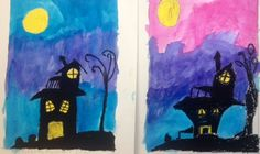I have used this lesson for middle school and upper elementary. Materials: watercolor paper, black & yellow Craypas oil pastel, Prang Watercolors, pencil, eraser, large watercolor brush, water cups. We draw out a simple haunted house. I give them options through each step to create different spooky house shapes. We draw the hill and the … Continue reading 5th Grade Spooky Houses- oil pastel & watercolor