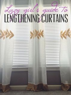 IN LOVE WITH THE GOLD!! Simple way to lengthen curtains! | www.adventuresatnaptime.com