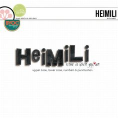 Heimili   Alpha is a must have ... this realistic alpha goes with just about any page your creative mind can dream up!