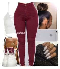 and we'll never be royals. it don't run in our blood by lamamig on Polyvore featuring polyvore, fashion, style, WithChic, MICHAEL Michael Kors, Native Union, NIKE and clothing