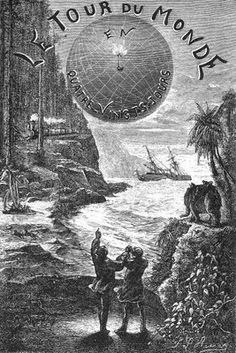 Illustration by Léon Benett from the French version of Around the World in 80 Days by Jules Verne