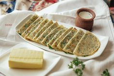 Azerbaijani Cuisine. Kutabs with greens.