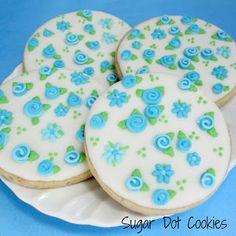 Sugar Dot Cookies: Royal Icing Transfer Flowers
