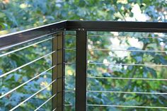Metal handrail black by Stainless Cable Railing Systems