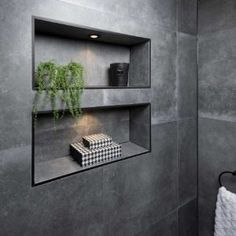 Modern Bathroom Design, Bathroom Interior Design, Wainscoting Bathroom, Modern Shower, Grey Bathrooms, New Home Designs, Bathroom Renovations, Home Decor Furniture, Bathroom Inspiration