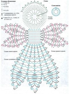 Photo - Her Crochet Crochet Diy, Thread Crochet, Crochet Doilies, Crochet Flowers, Crochet Angel Pattern, Crochet Angels, Crochet Diagram, Vintage Crochet Patterns, Christmas Crochet Patterns