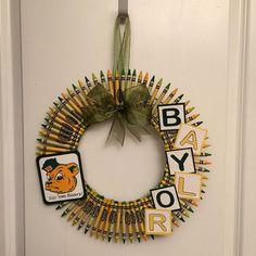 """The #BaylorProud #CrayonWreath"