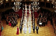Debutantes dazzled as they were introduced into high society at the glittering Vienna Oper...