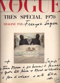 Vogue Paris January 1970 Francoise Sagan Guy Bourdin Coco Chanel Helmut Newton