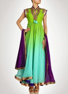 Attractive #Georgette #Anarkali Suit by tabu-sam