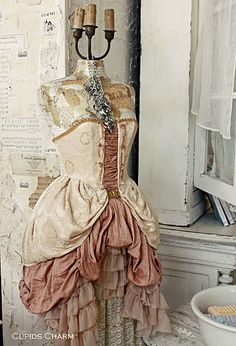 swooning over the mannequin in all of her faded grandeur