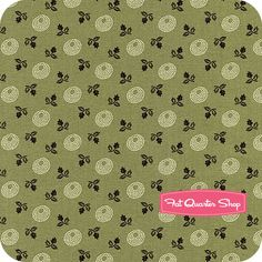 Tavern Collection Greens Olive Dotted Dots and Roses Yardage SKU# 4046-114 - Fat Quarter Shop