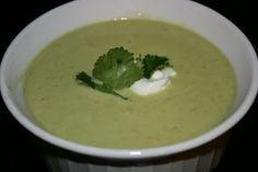 A Year of Slow Cooking: CrockPot Creamy Avocado Chipotle Soup: Leave onion in large chunks and remove after cooking.