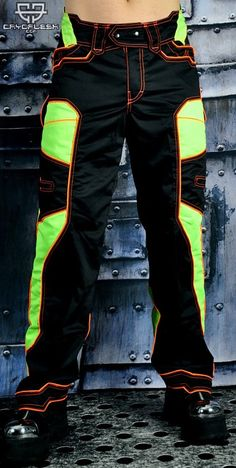 Nirvana Pants Black/UV Green