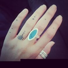 Dotted Finger Tattoos