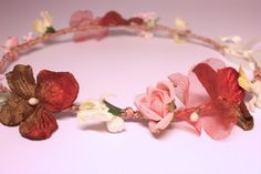 Bohemian flower crown headband. Rustic floral by SheSellsHeart, £23.00