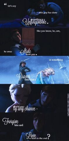 Helsa.I SHIP THIS. SO HARD. HANS WHYYYYY DID YOU HAVE TO BE EVIL