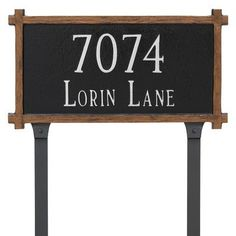 Montague Metal Products 2 Line Mission Oak Address Plaque Finish: Gray/White