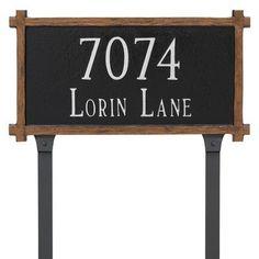 Montague Metal Products 2 Line Mission Oak Address Plaque Finish: Black/White