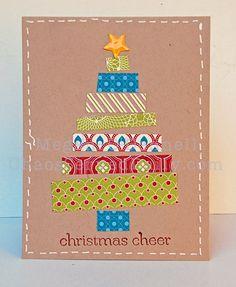 tarjetas de navidad originales hechas a mano scraps to make christmas tree