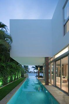 Architecture Luxury Houses | Luxury Homes* | Rosamaria G Frangini || Modern White *Architecture, Biscayne Bay Residence in Miami*****