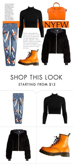 """Pop of Color"" by missmodel13 ❤ liked on Polyvore featuring Christopher Kane, Puma, Dr. Martens and Givenchy"