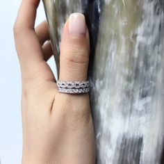 New ring to add to your diamond stacking rings collection. That can be wear as everyday ring, wedding band, push ring...etc. Perfect gift ideas