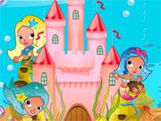 Free Online Girl Games, The mermaids want to decorate their new underwater castle but they will need your help finding the perfect look!  Change out the fish, seaweed, the castle windows, the sand and much more!  Make sure the mermaids love their new home!, #mermaid #castle #decoration #decorating #girl