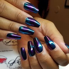 Get Chrome Nails | Powdered Sugar Collection Nail Design, Nail Art, Nail Salon, Irvine, Newport Beach
