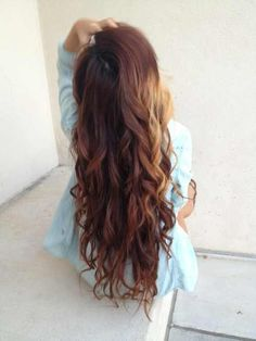 Long Brown Casual Curls