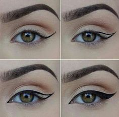 How to Apply Eyeliner. Eyeliner can help make your eyes stand out or look bigger, and it can even change their shape. Even if you've never worn eyeliner before, all it takes is a little practice to take your makeup to the next level! Makeup 101, Makeup Tricks, Makeup Goals, Makeup Inspo, Skin Makeup, Makeup Inspiration, Beauty Makeup, Makeup Ideas, Makeup Tutorials