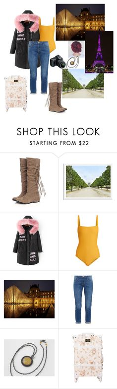 """Places i want to travel: Paris"" by bruna-love13 on Polyvore featuring moda, WithChic, Matteau, Frame, Nikon, travel, paris e dreams"