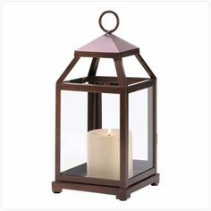 Bronze Candle Lanterns for Wedding Centerpieces