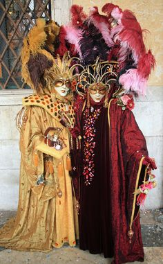 https://flic.kr/p/9QKm3n   Couple in elaborate outfits (IMG_2847a)    Carnevale in Venice in February 2011