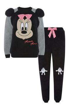 Zwarte pyjama met Minnie Mouse