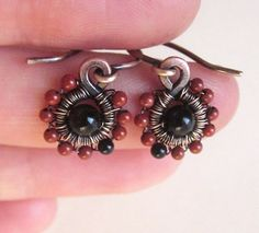 Earrings with onyx and jaspers from EyeBright by DaWanda.com