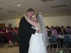 Wedding first dace at Knights of Columbus in downtown Cedar Rapids, IA