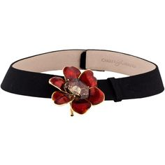 Pre-owned Carrera y Carrera 18K Diamond Flower Brooch Pendant Collar... (64.502.695 IDR) ❤ liked on Polyvore featuring jewelry, necklaces, diamond collar necklace, pendant necklace, choker collar necklace, red flower necklace and diamond accent necklace