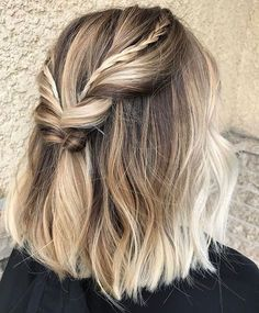Half-Up Style for Short Hair