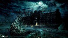 dark fantasy ijesztő vár