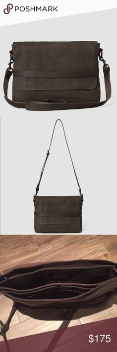 NWT all saints leather and canvas bag Brand-new bag never used. Leather and canvas with lots of compartments, perfect every day bag super durable, beautiful finish. Great laptop bag All Saints Bags Laptop Bags
