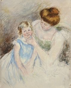 Mary Cassatt Paintings for Sale | ... Holding Sara's Chin Art Print by Mary Cassatt - WorldGallery.co.uk
