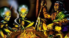 - UFOs & Aliens - It appears that the Native Americans do not have any fear of aliens as cultures who were deeply spiritual can remember a time when star people used to ...