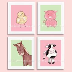 Nursery art prints nursery decor baby girl farm by Baby Girl Nursery Decor, Baby Boy Rooms, Baby Boy Nurseries, Baby Decor, Kids Decor, Cowboy Nursery, Kids Rooms, Nursery Paintings, Nursery Prints