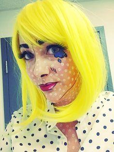 pop art makeup roy lichtenstein costume for halloween - Art Costumes Halloween