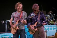 Peter Mayer and Mac MacAnally of Jimmy Buffett's Coral Reefer band using Jarrell Blondies.