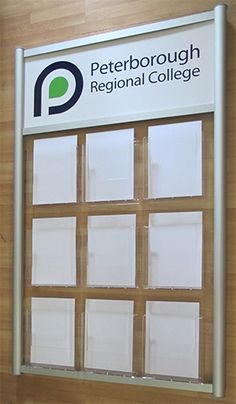 University Display - full range of courses are a set of wall panels across various sites Acrylic Display Stands, Peterborough, Literature, University, Range, Mirror, School, Wall, Literatura