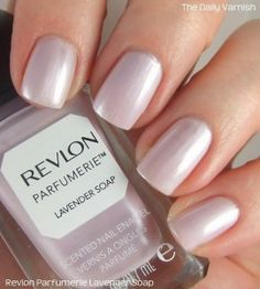 I cannot believe this is the first polish from Revlon's Parfumerie line I have tried! Revlon released their Pafumerie line the end of Katie tried Wintermint and adored it so I've … Lavender Nail Polish, Lavender Nails, Purple Nail Polish, Lavender Soap, Revlon Nail Polish, Nail Polish Sets, Opi, Revlon Nagellack, Pretty Nail Colors